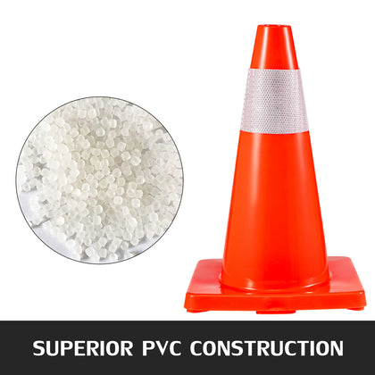 Traffic Safety Cones 20 Pcs Pvc Parking Cones 18
