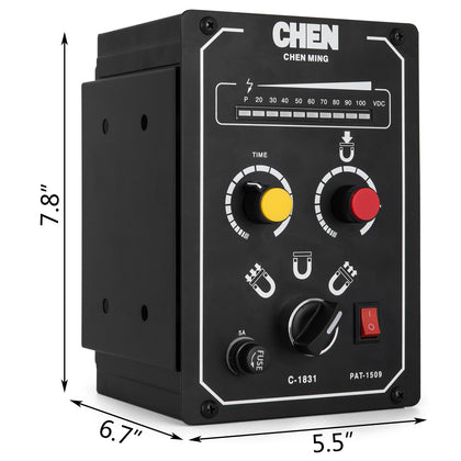 Electro Magnetic Chuck Controller 220v 5a Demagnetizing 9-15s 45# Adjustable