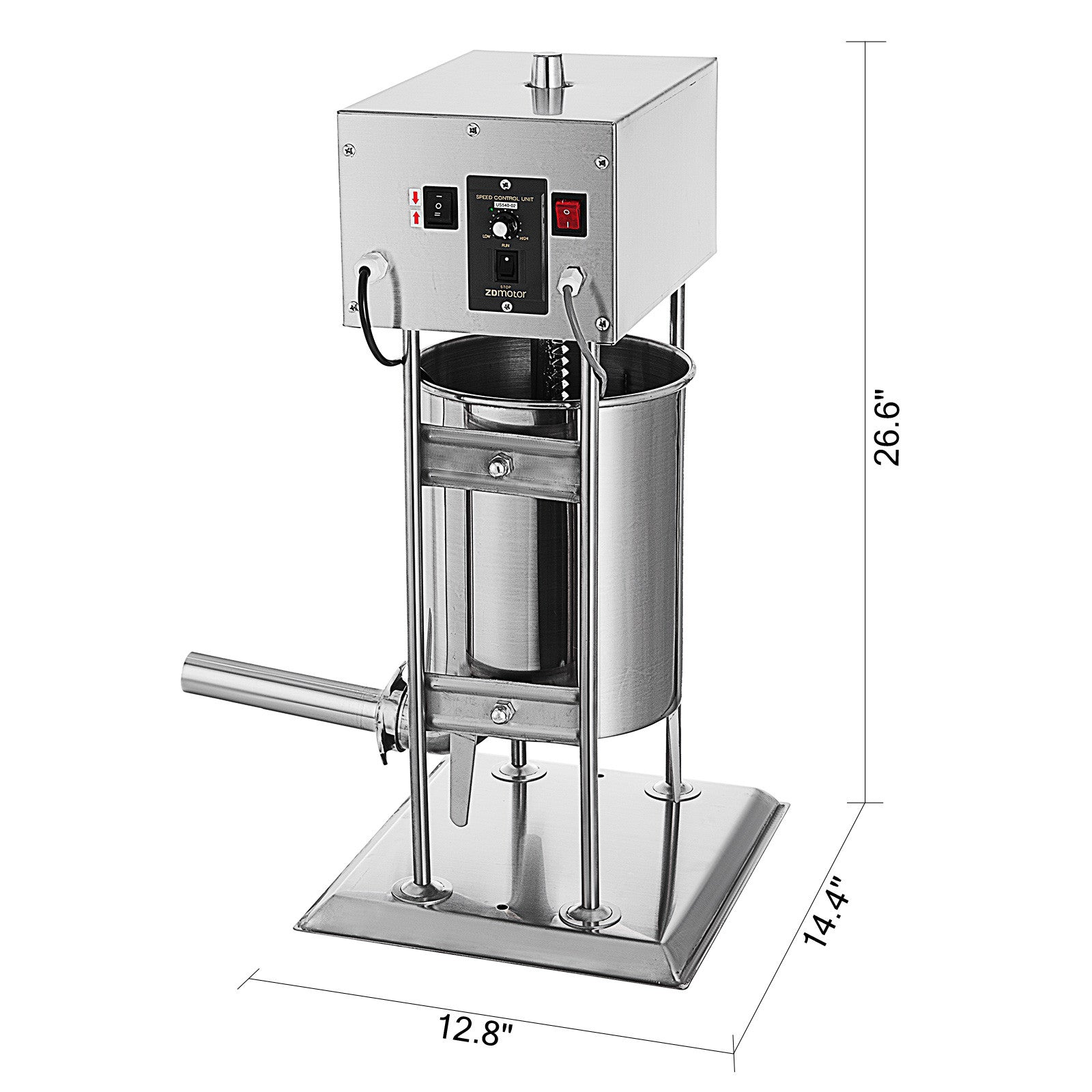 10l 25lb Electric Commerical Sausage Stuffer Stainless Dual Speed Price