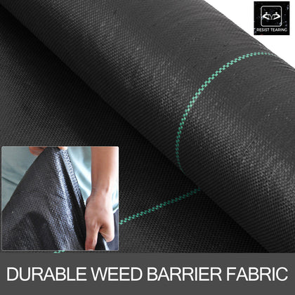 4x250 Ft Weed Barrier Landscape Fabric 5.0oz Ground Cover Pp Woven Vegetable