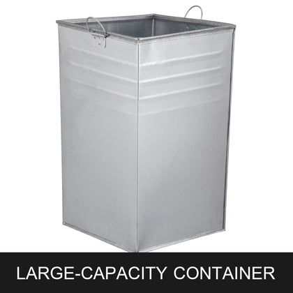 Bestequip Garbage Can 44.5g Trash Cans Commercial Outdoor Coffee Campuses Parks