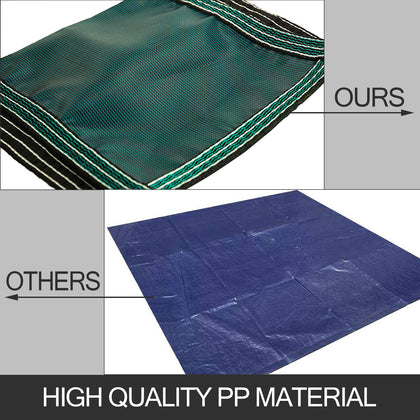 Vevor Safety Pool Cover 18x32ft Rectangular In Ground Clean Winter Cover Mesh