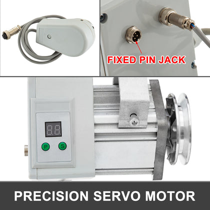 Servo Motor Sewing W/needle Positioner 400w 220v Quick Start Sturdy Brushless