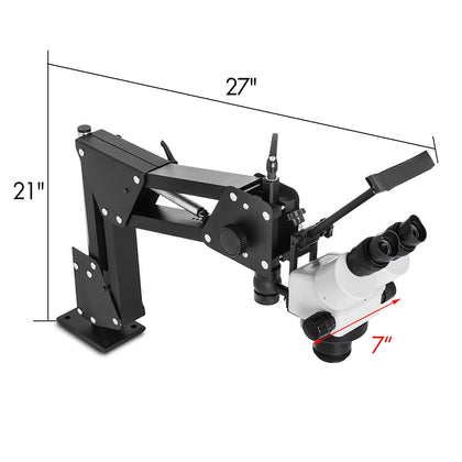 Micro Inlaid Mirror Multi-directional Microscope 7x-4.5x Durability Wf10x/20mm