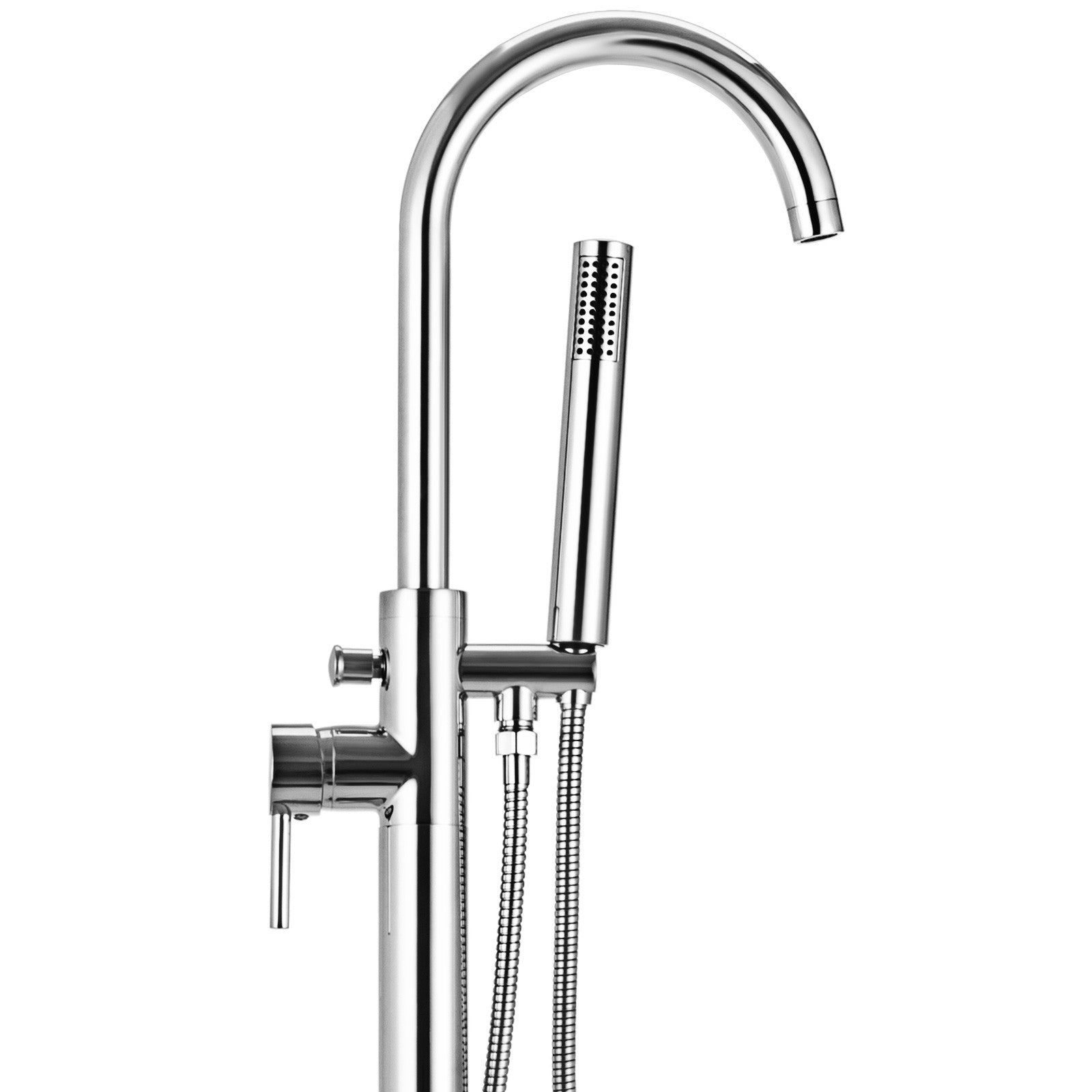 Floor Mount Standing Bathtub Faucet Tub Filler Mixer Tap Handheld Shower