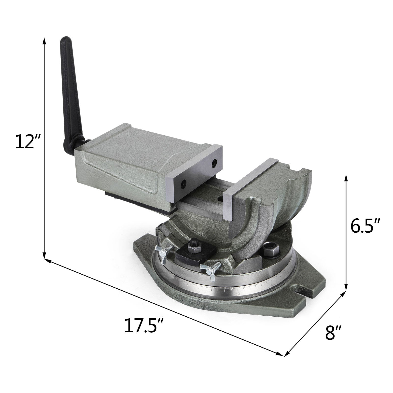 "Milling Machine Vise Precision 2 Way 5"" Tilting & Swiveling Angle Machinist Vise"