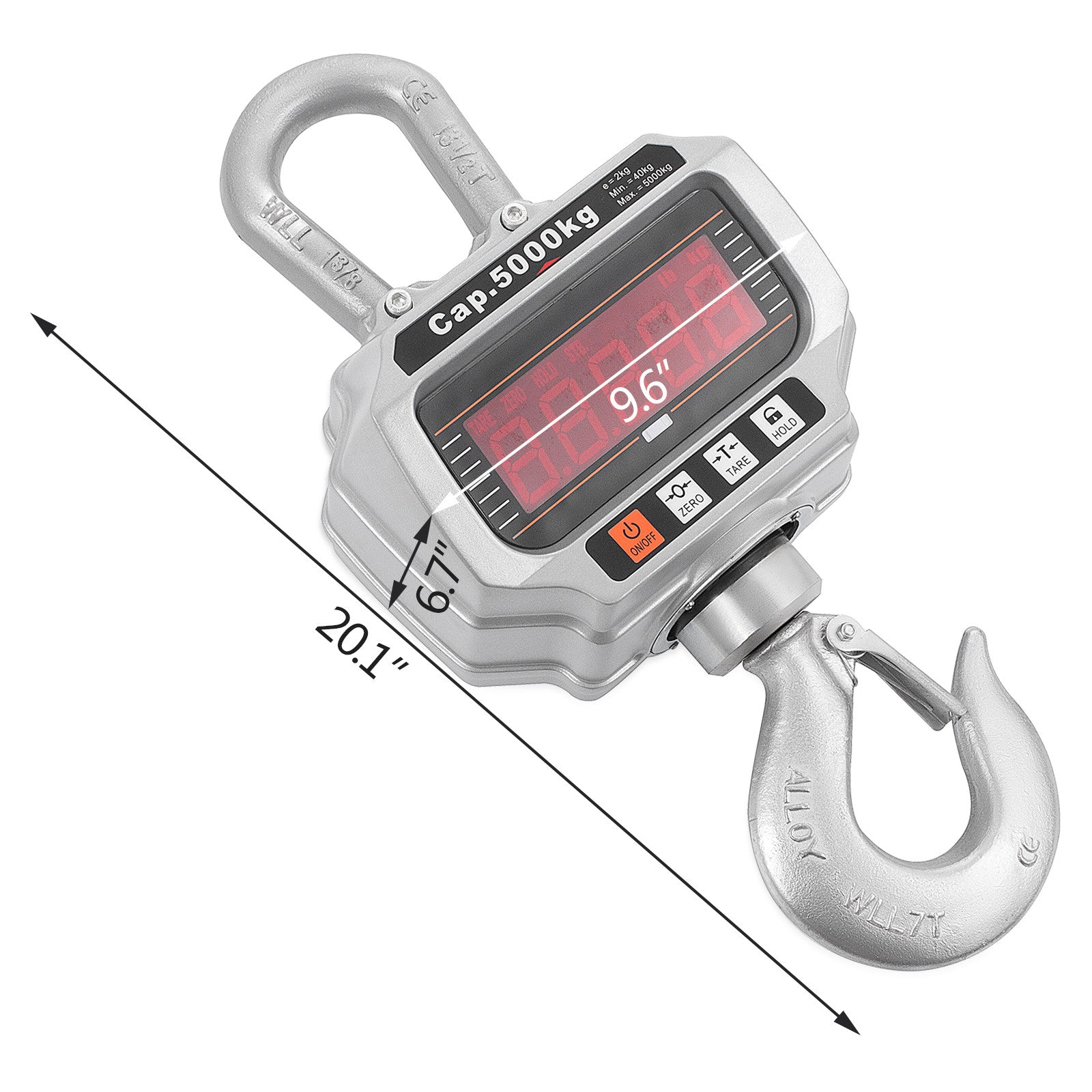 Digital Crane Hanging Scale Zero/tare 2kg Resolution High Precision Updated