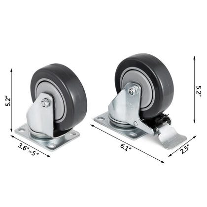 Set Of 16 Swivel Plate Casters With 4