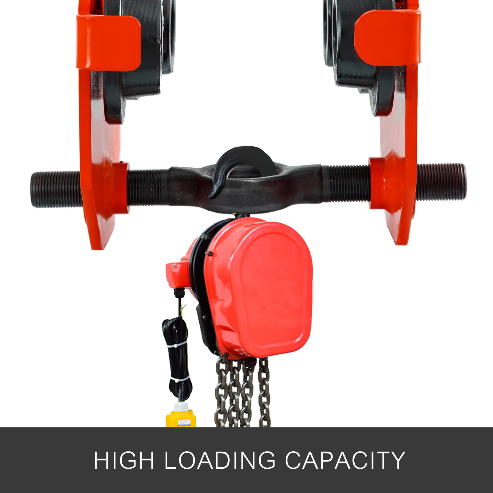 0.5t Push Beam Trolley Manual Roller Trolley Adjustable Low Profile I-beam Track