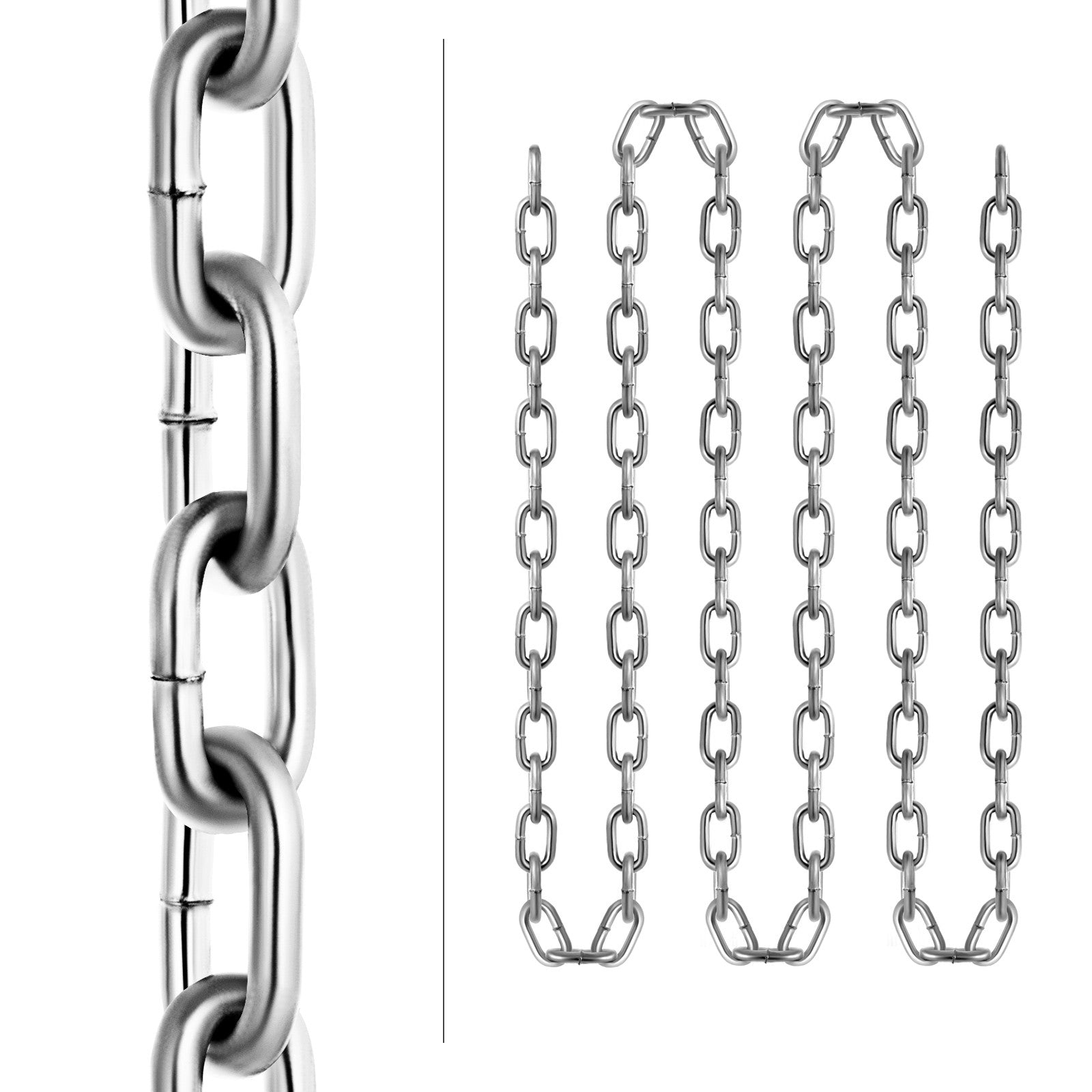 "Chain Sling G30 3/16""x100' Zinc Plated Proof Coil Chain Towing Pulling"