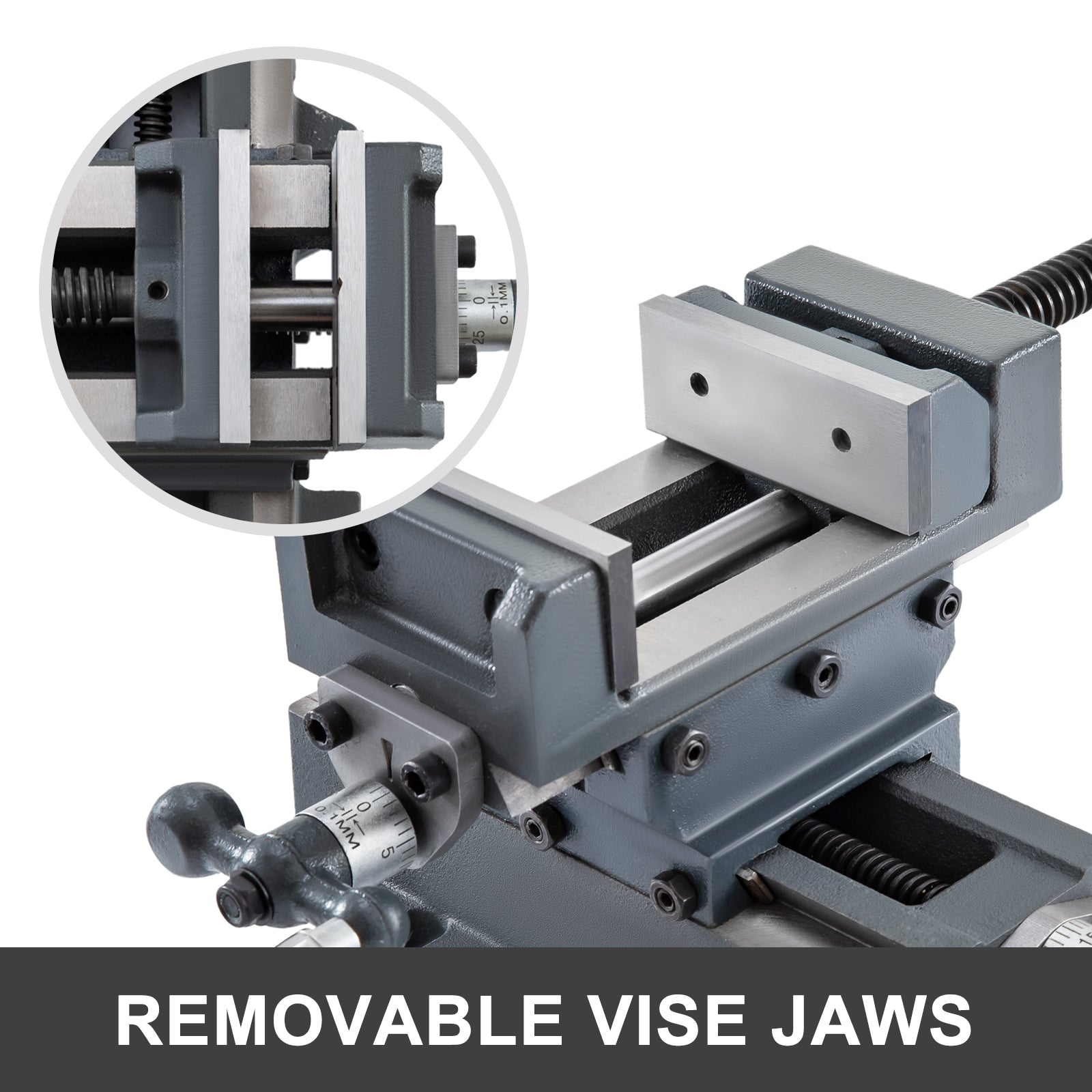 "5-1/8"" Compound Cross Slide Industrial Strength Drill Press Vise 2 Way Benchtop"