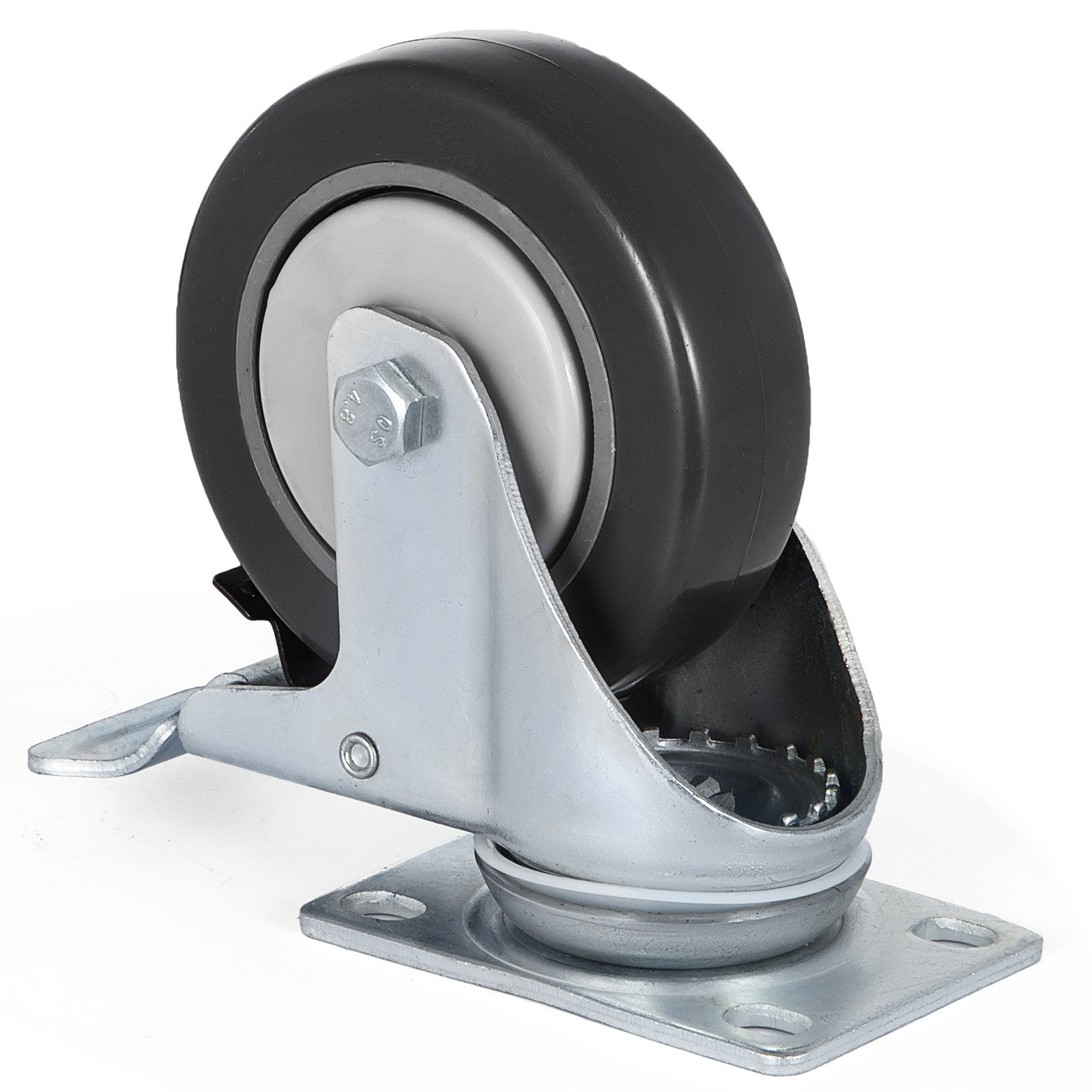 Swivel Plate Casters 32 Pack 4 Inch W/16 Brakes Durable Polyurethane Wheels