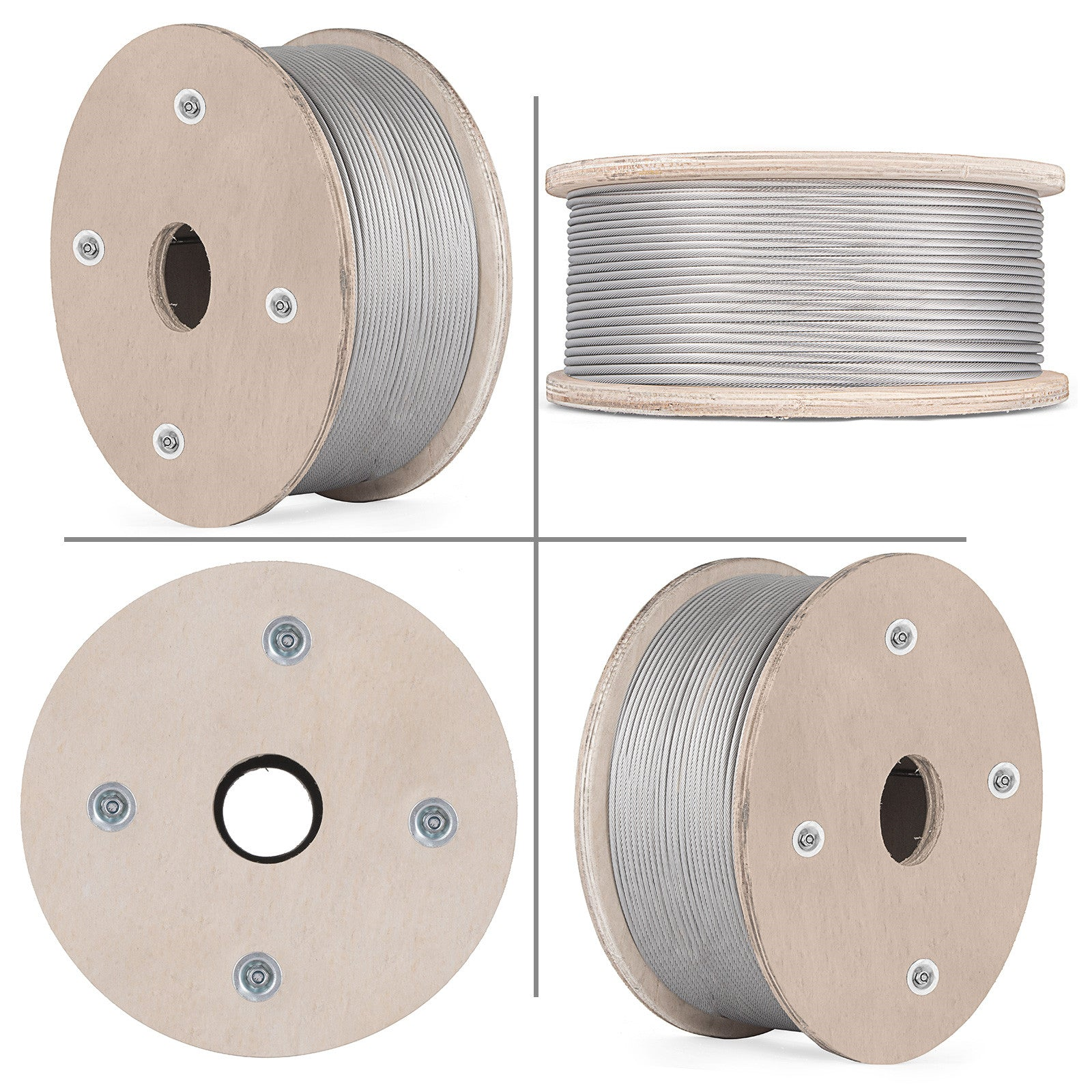 500ft 1x19 Stainless Steel Cable Wire Rope 3/16 Airline Business