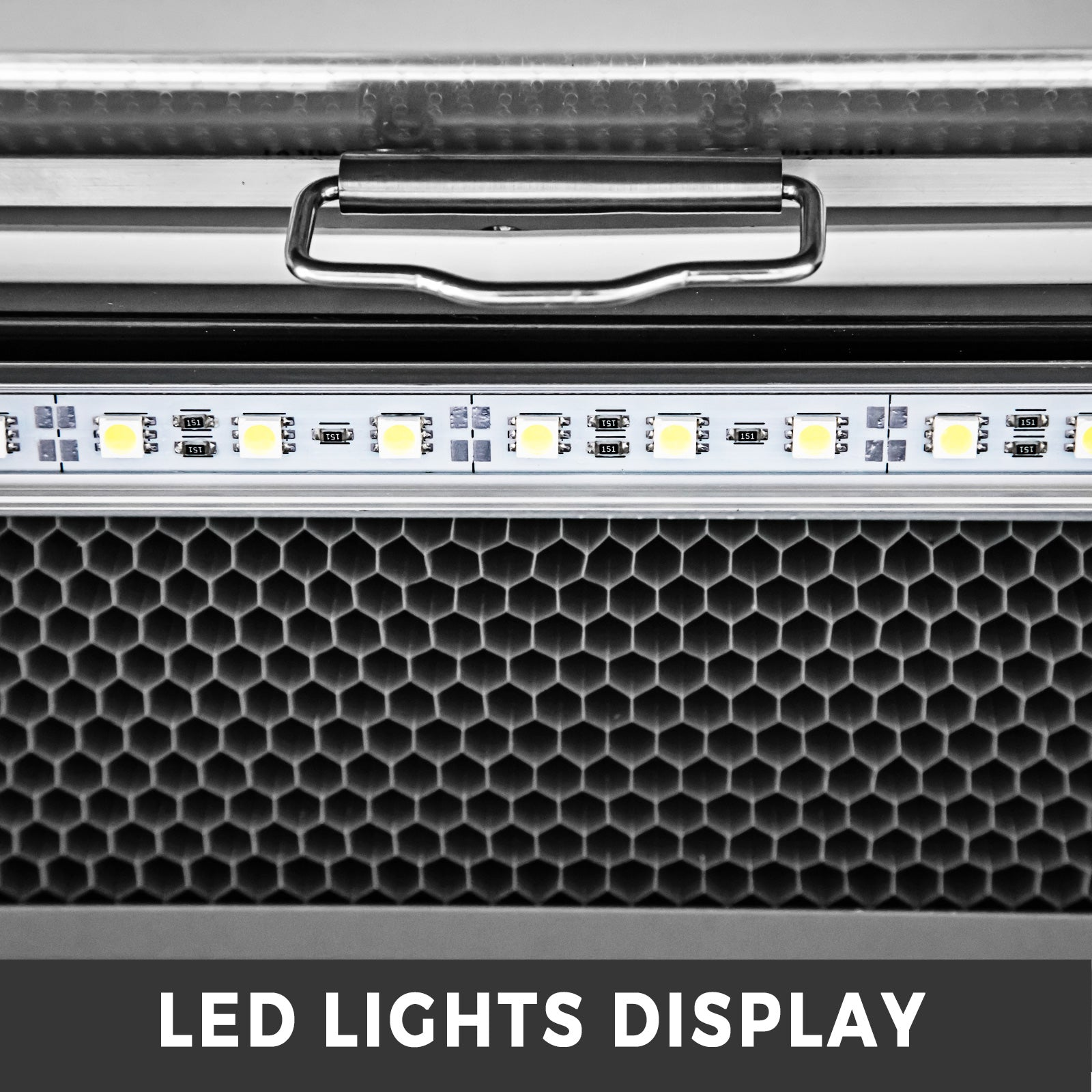 "36"" Stainless Steel Open Refrigerated Display Case Refrigeration 390L LED Lights"