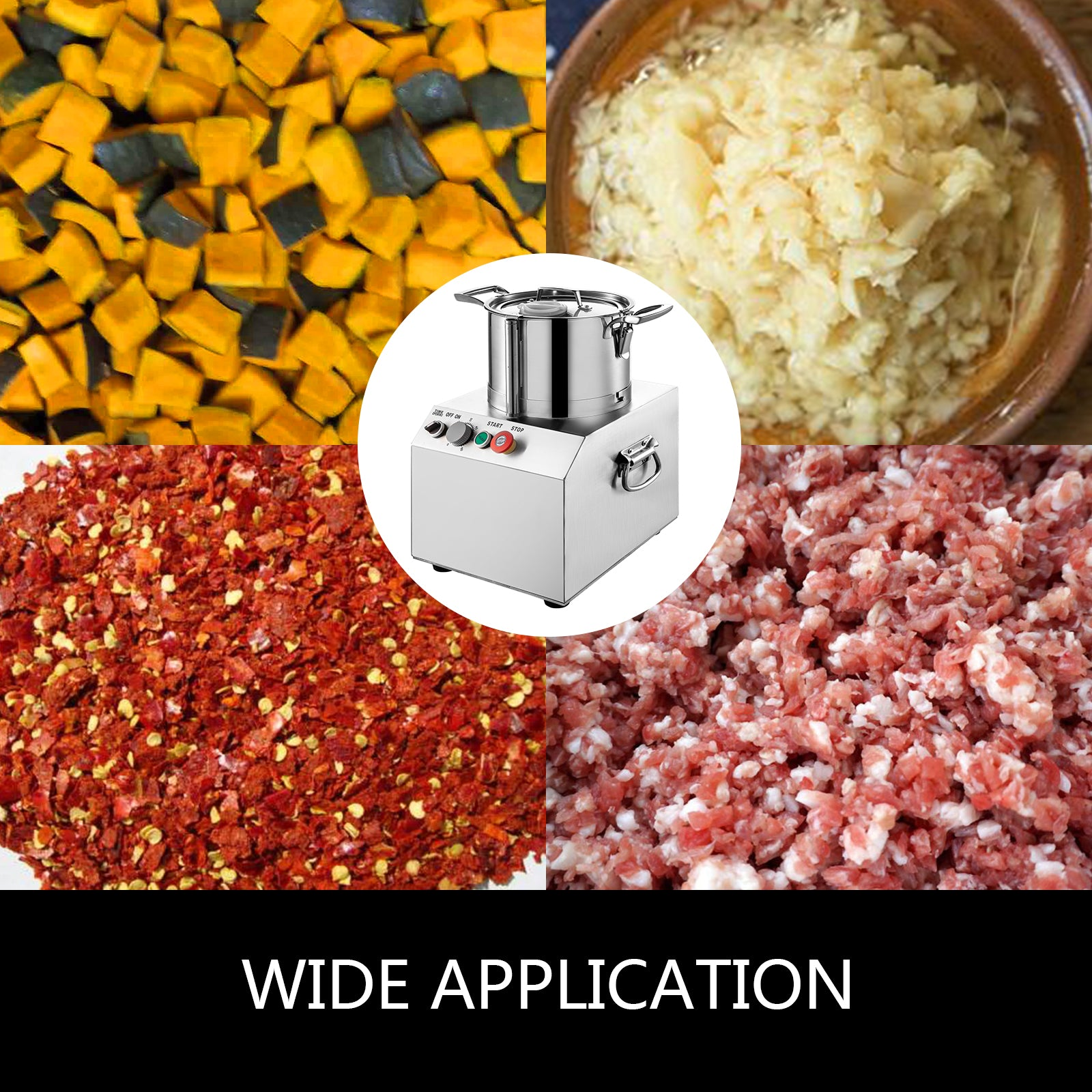 15l Commercial Food Processor Food Grinder Food Chopper S.steel Vegetable Dicer