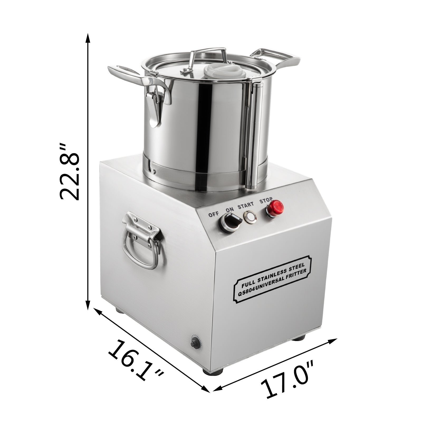 32L Commercial Grade Food Processor Blender S.Steel Tomato Chopper Grinder Dicer