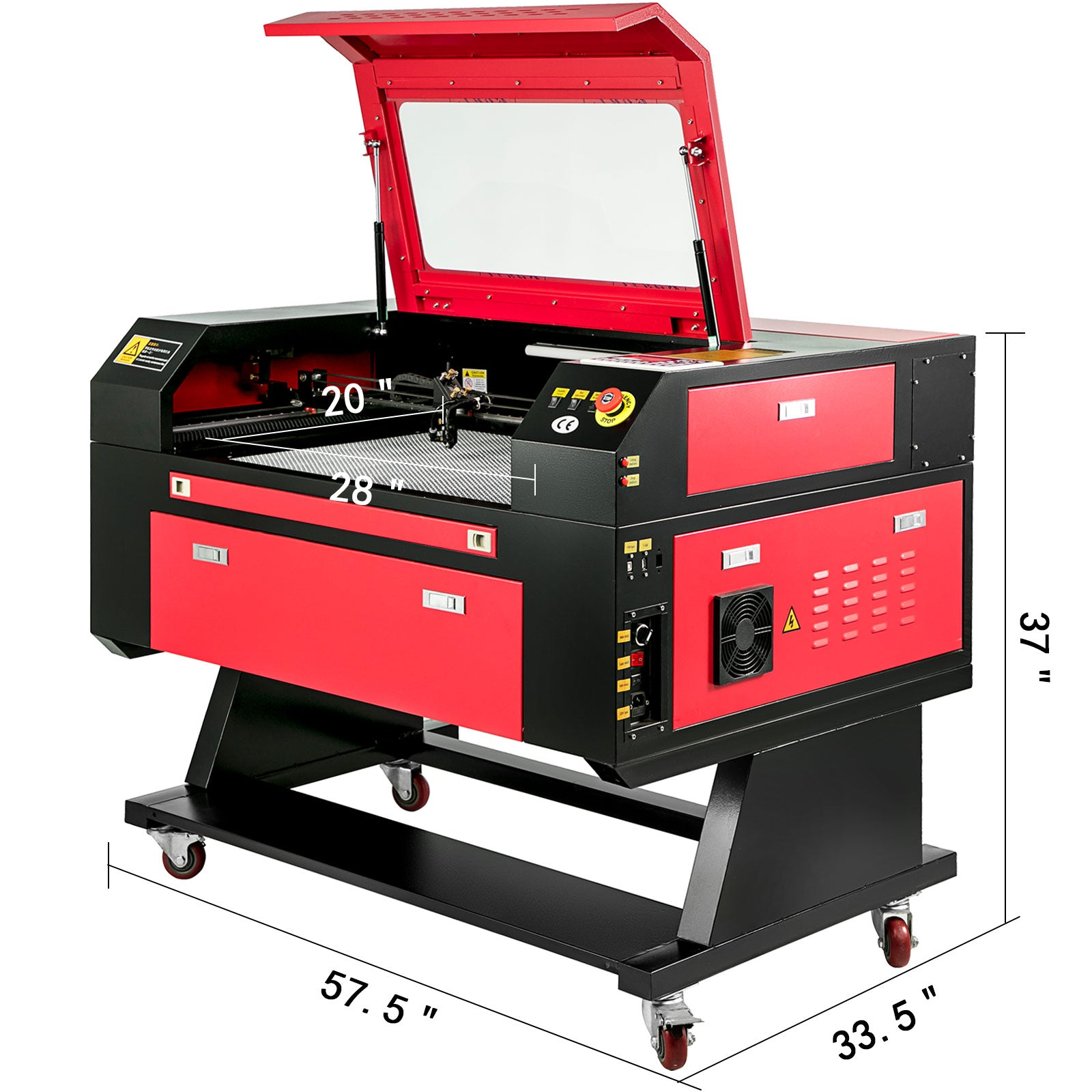 80w Co2 Laser Engraver Cutting Machine 700*500 Cutting Carving Artwork