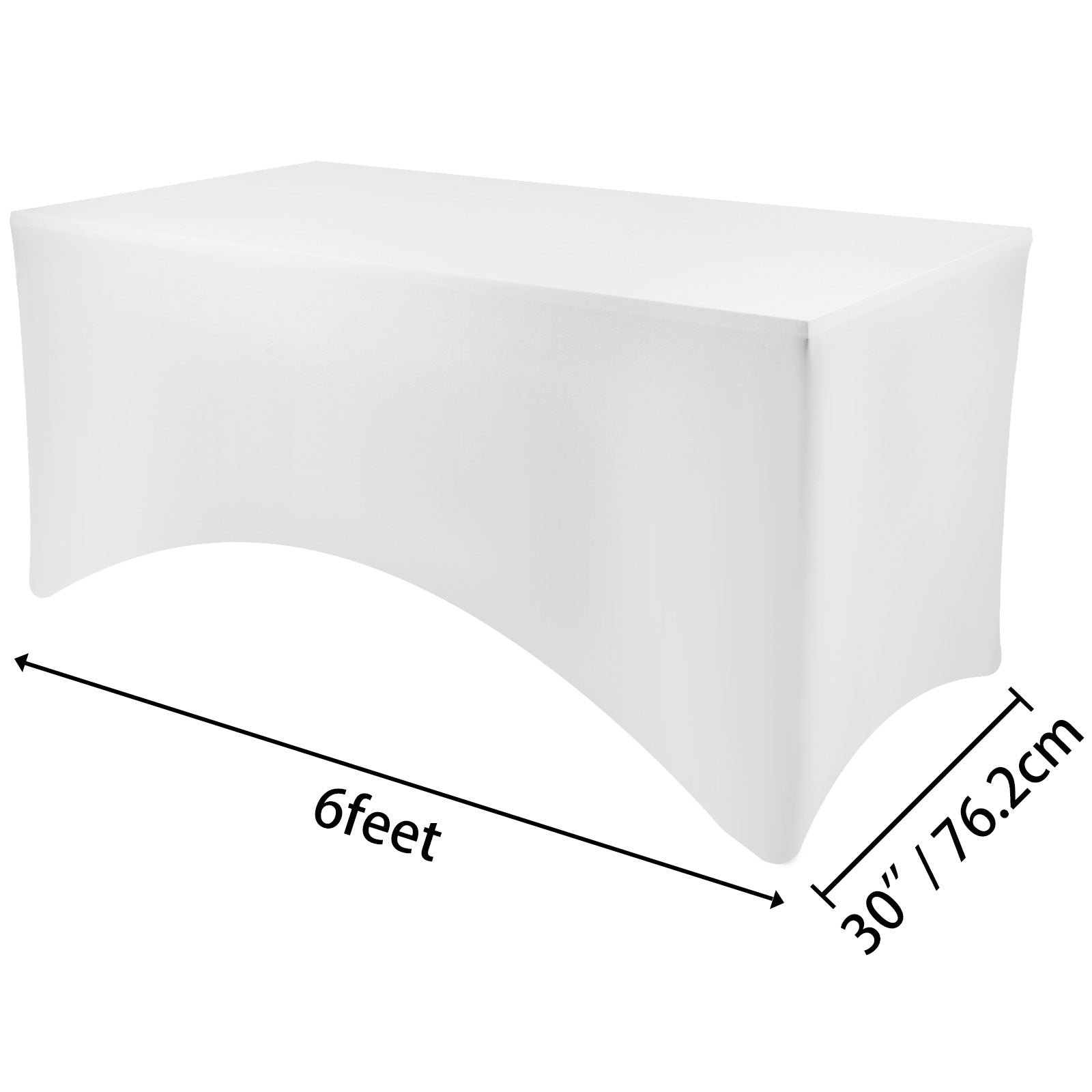 20pcs 6ft Rectangular Stretch Tablecloth Cover Show Protector Dessert Table