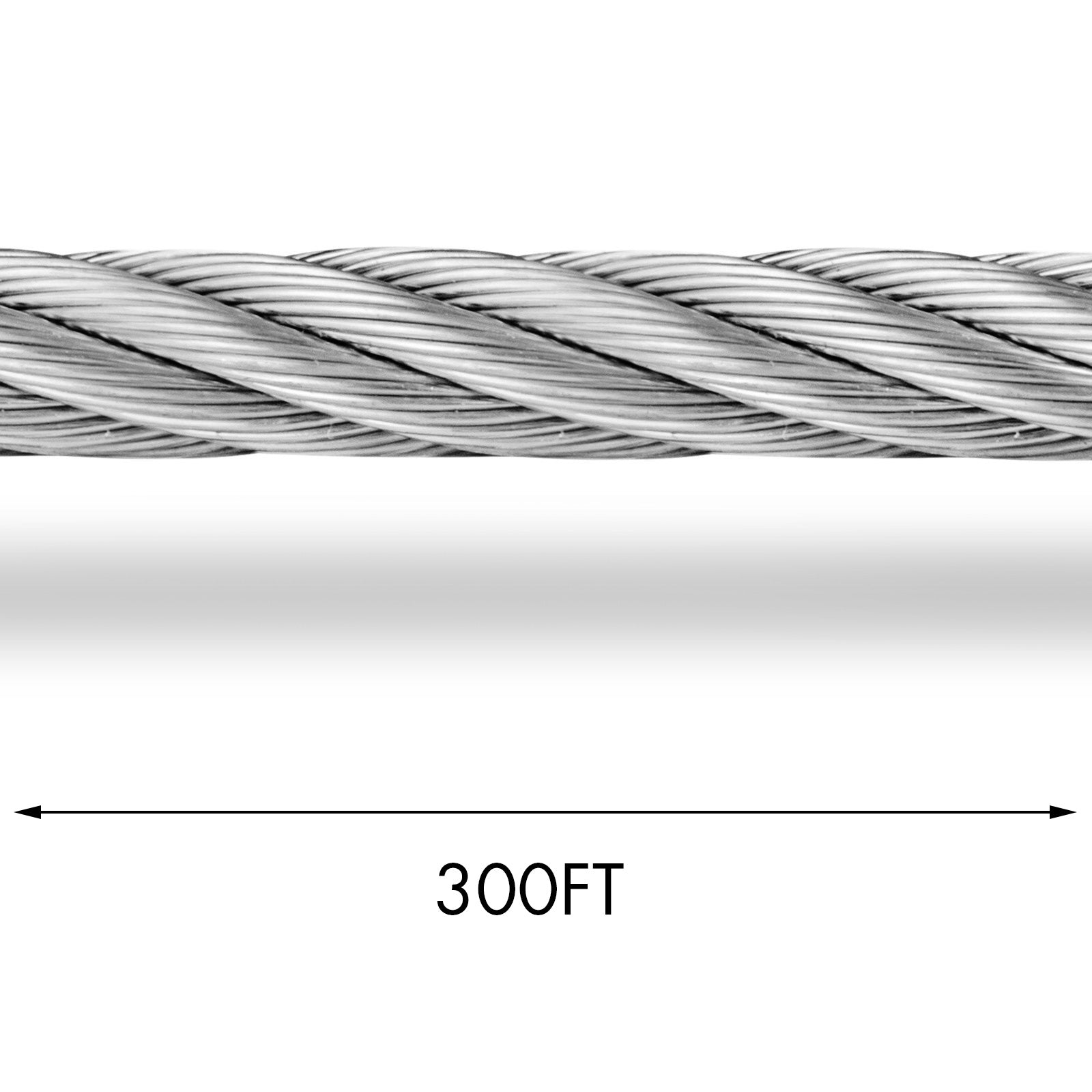 "T304 Stainless Steel Cable Wire Rope,1/4"",7x19,300ft Fishery Liftin"