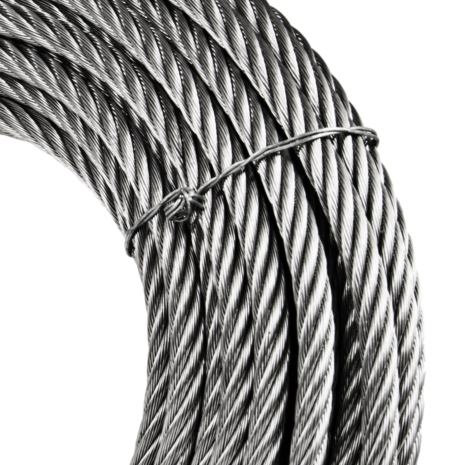5/16 7x19 Stainless Steel Cable Wire Rope 50ft Durable Outdoor Chemical Pro