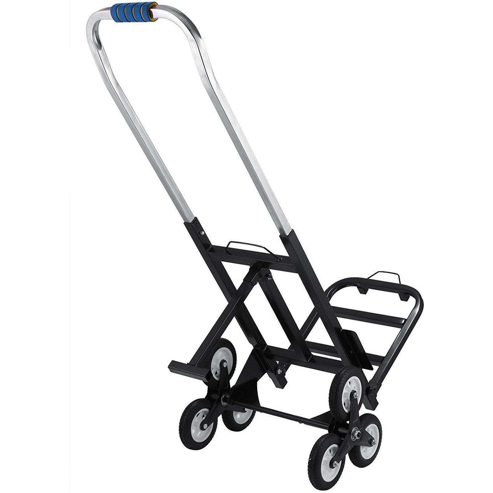 Portable Stair Climbing Folding Cart Climb All-terrain Up To 420lb Carbon Steel