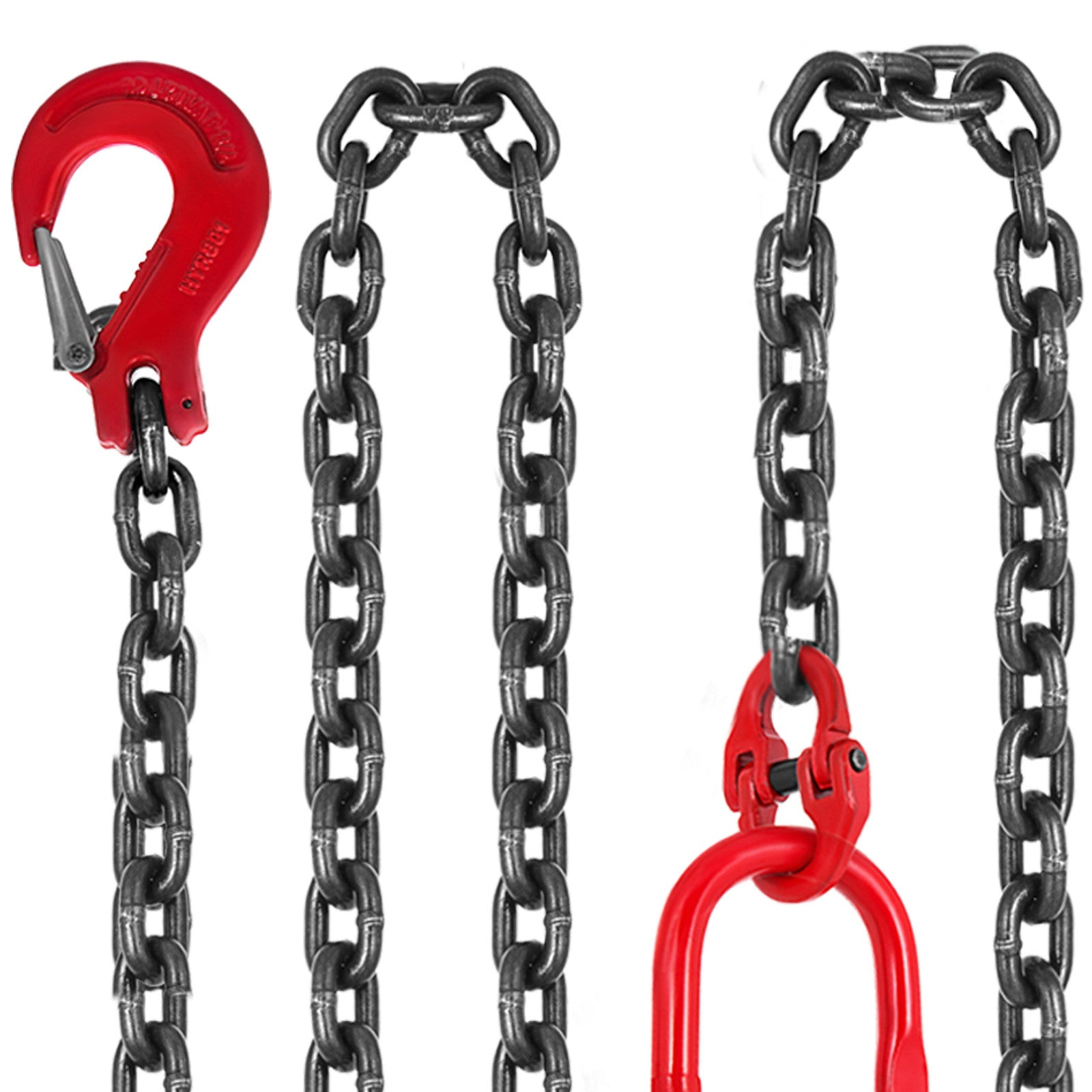 "Chain Sling - 5/16"" X 5' Double Leg Lifting Chain Powder Coating 3t/6600lbs"