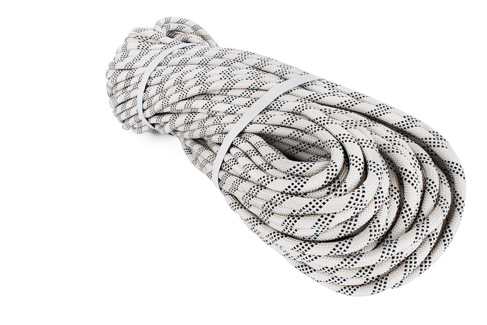 Durable Static Rope10.5mm 50m Robust Nylon Rope White With Black