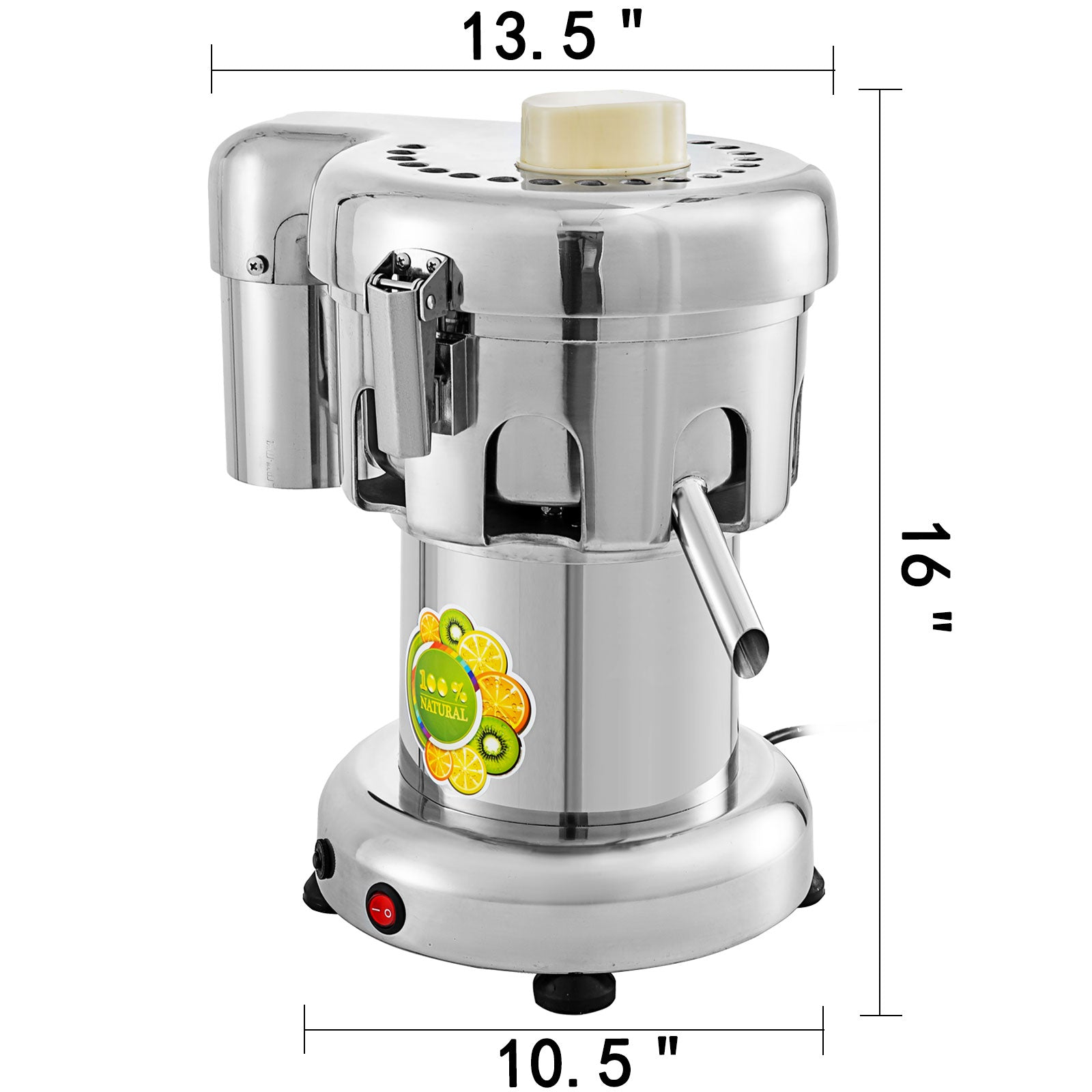 Juice Extractor 370w 176lbs/hr Juicer Extractor Machine Commercial