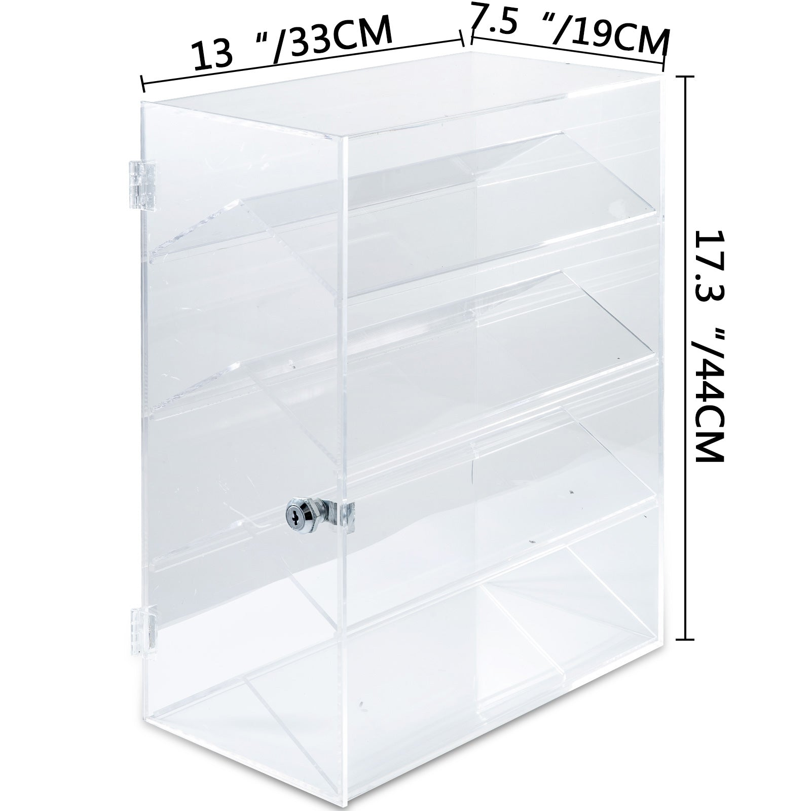 "Acrylic Display Cabinet Glued L13"" X W7.5"" X H17.3"" Showcase Removable Bakery"