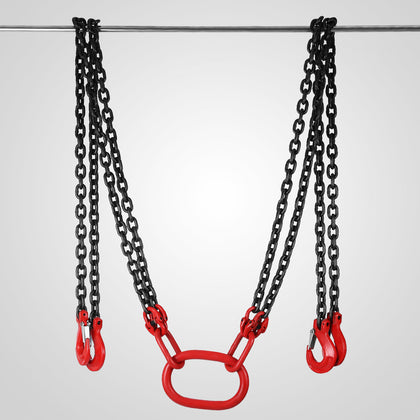 10ft Chain Sling With 4 Legs 5t Capacity Lever Chain Block Lifting Rigging