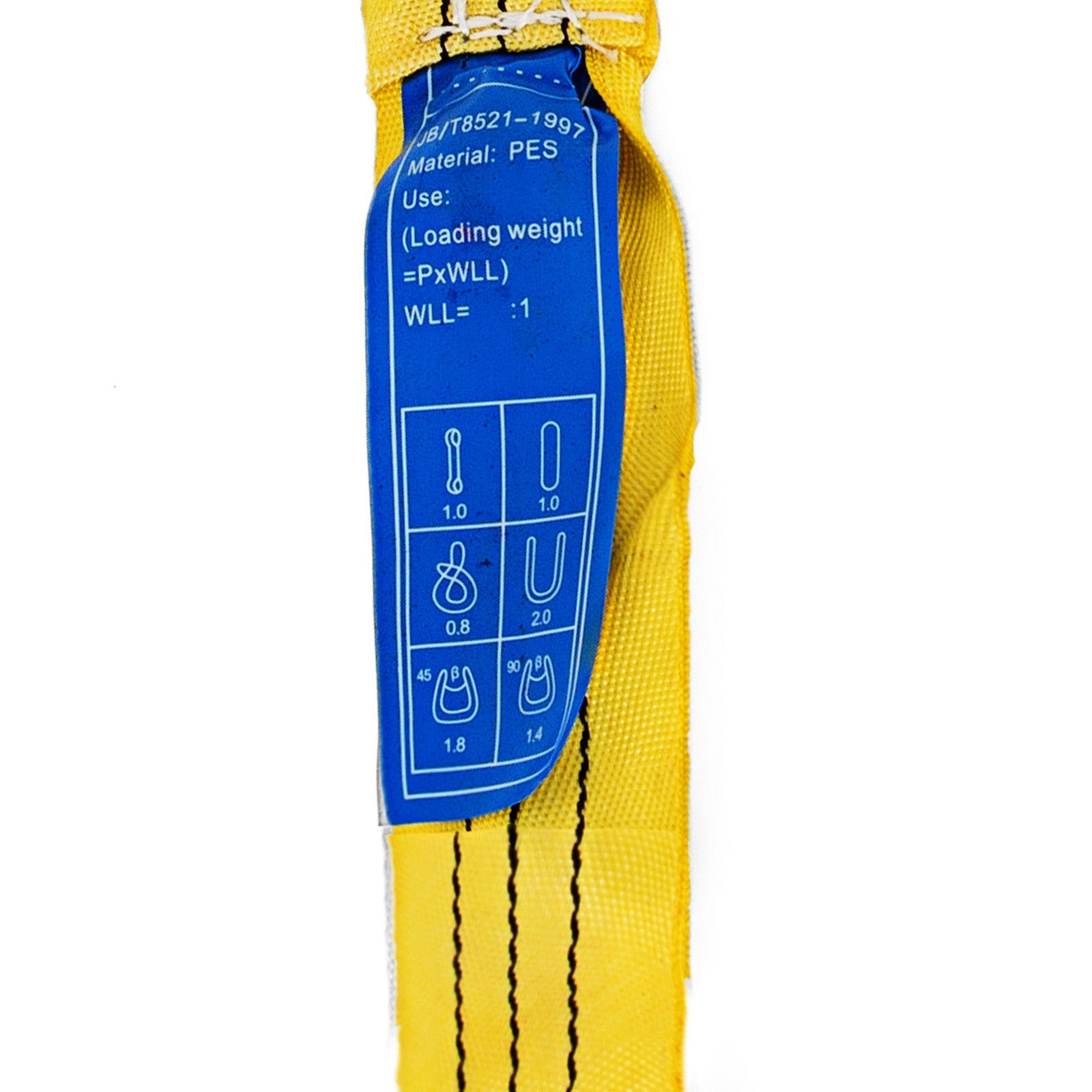 Round Lifting Sling Strap 2pcs 6ft Perimeter 6600lbs Yellow