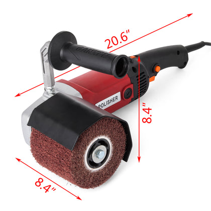1200w Burnishing Polishing Machine 4 Wheel Polisher Brush Wheels Stainless Steel