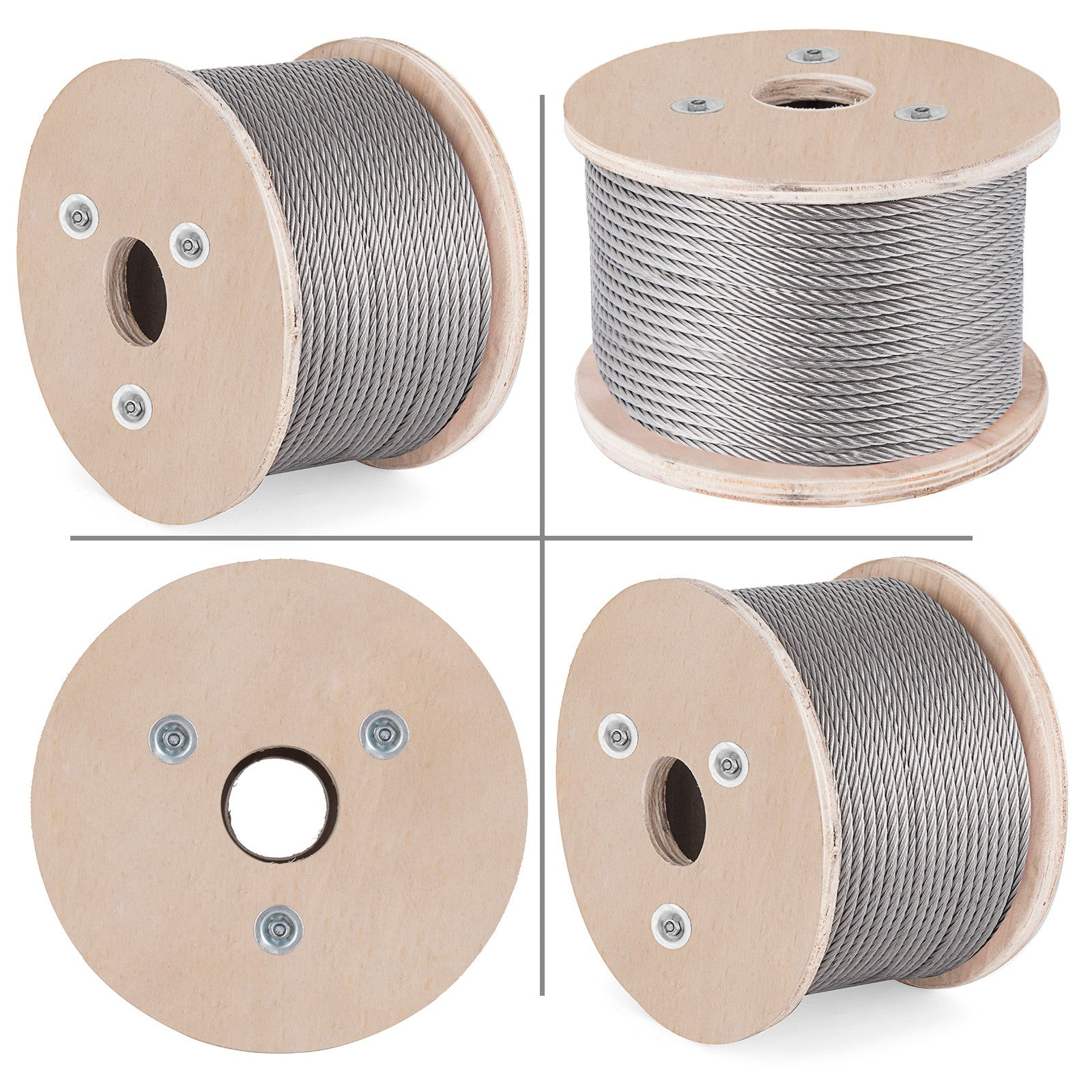 "T304 Stainless Steel Cable Wire Rope,5/16"",7x19,100ft Mining Hoist Fishery"
