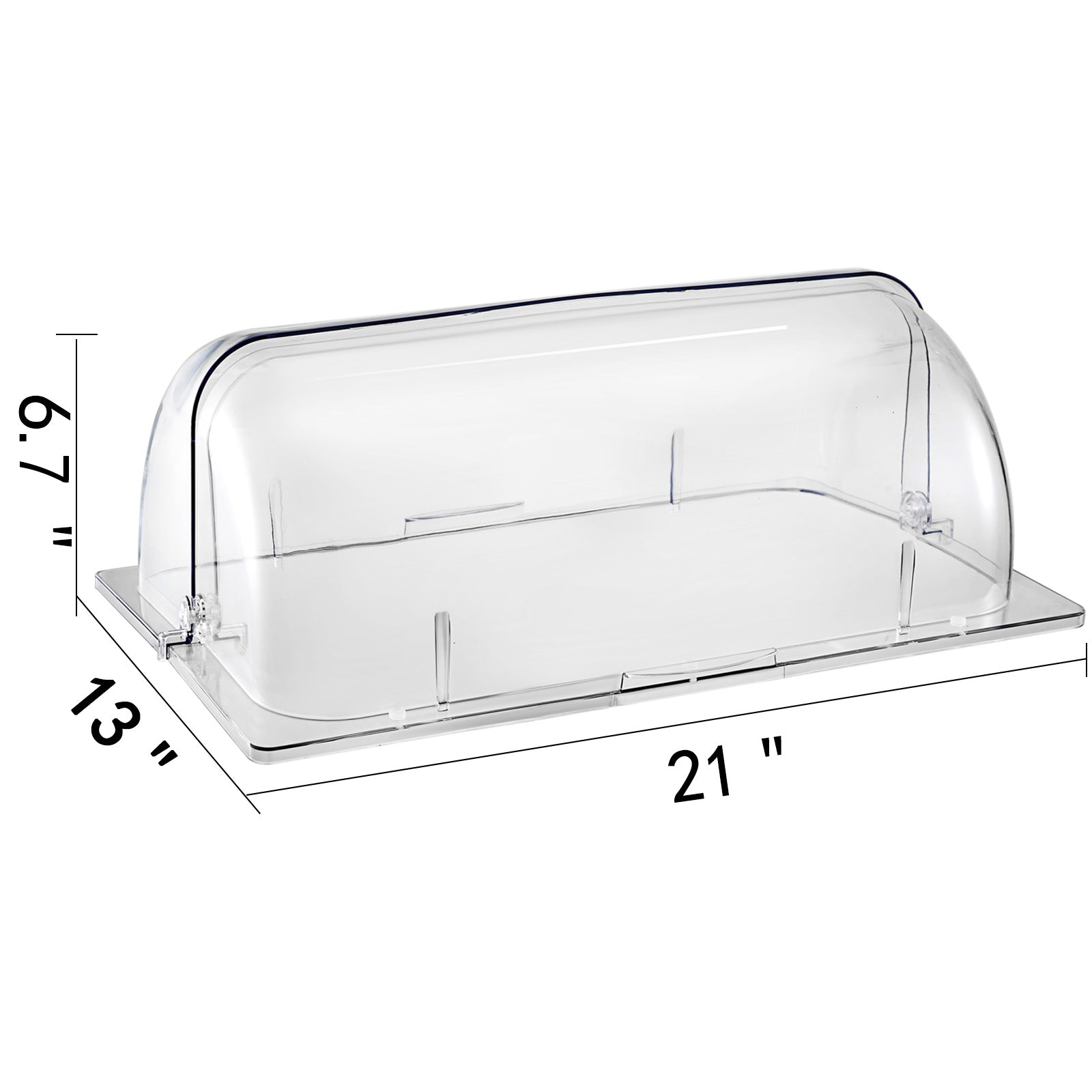 Vevor 6 Pack Chafing Dish Cover Clear Full Size Roll Top Bakery Pan Display Case