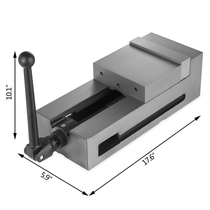 6'' Precision Bench Cnc Clamping Vise Fixed Jaw Vertical Sawing Bench Drilling