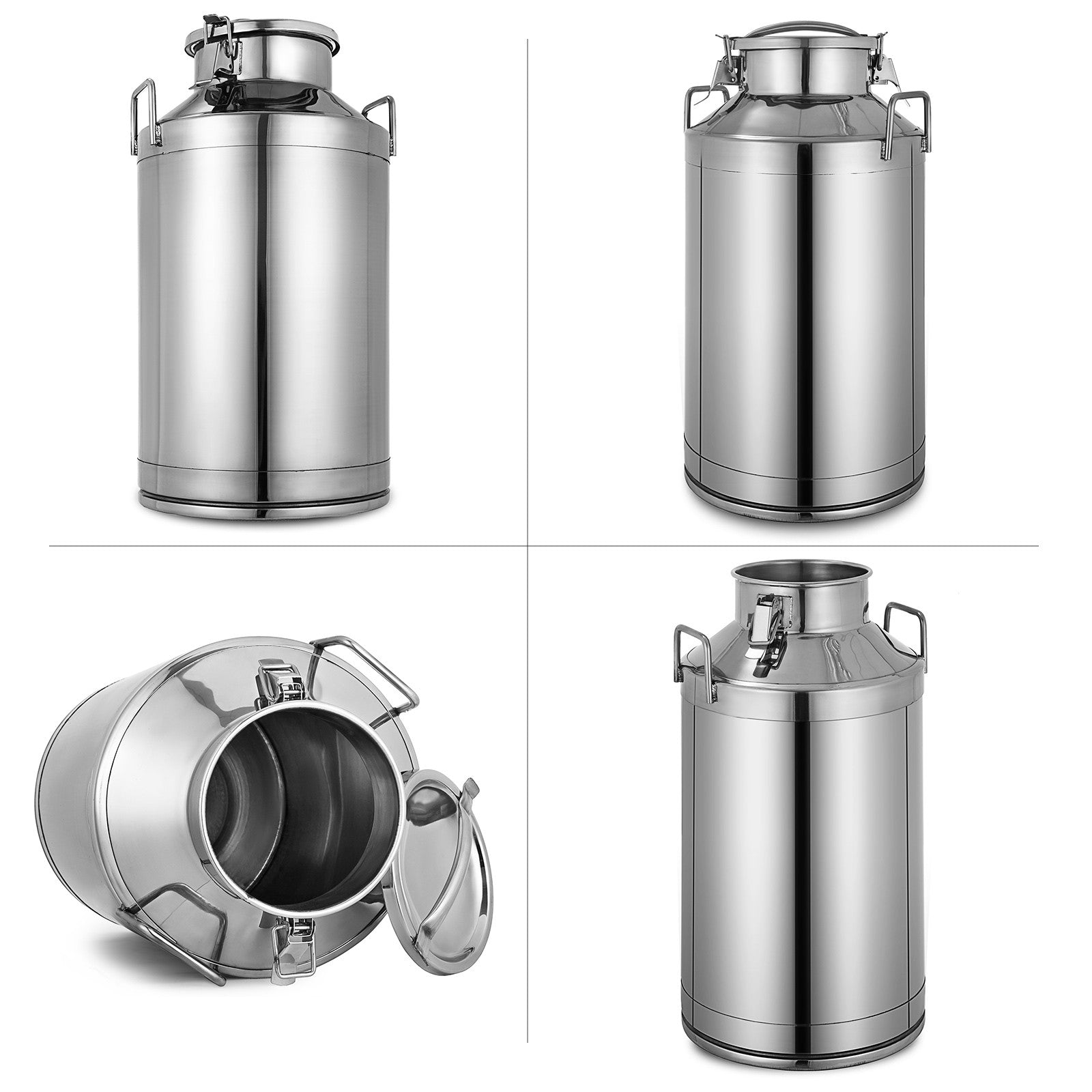13.25 Gallon Stainless Steel Milk Can W/handle One Piece 50l Milk Dispenser