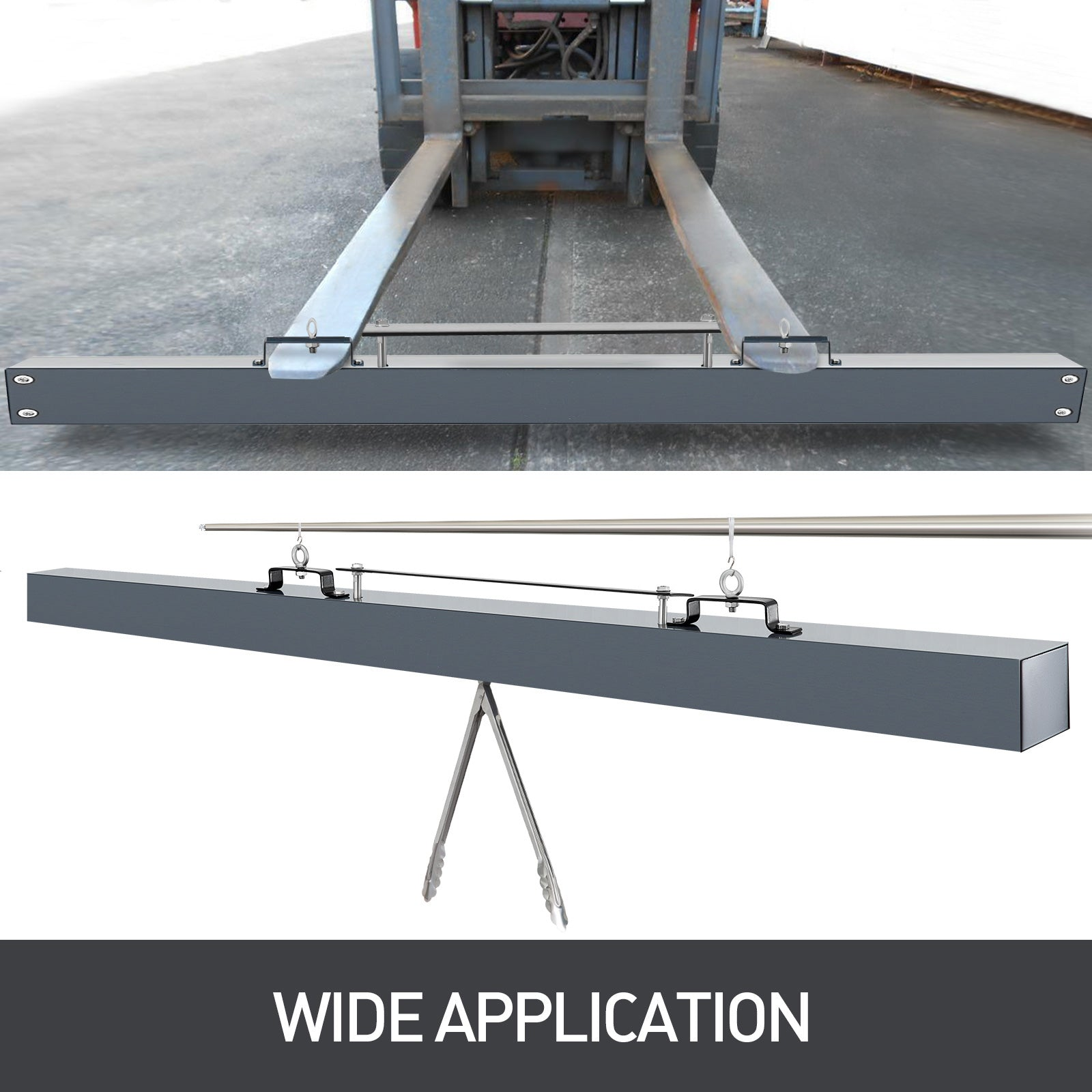 84 Inch Hanging Magnet Sweeper Magnet Bar W/ Quick Release Floor Driveway