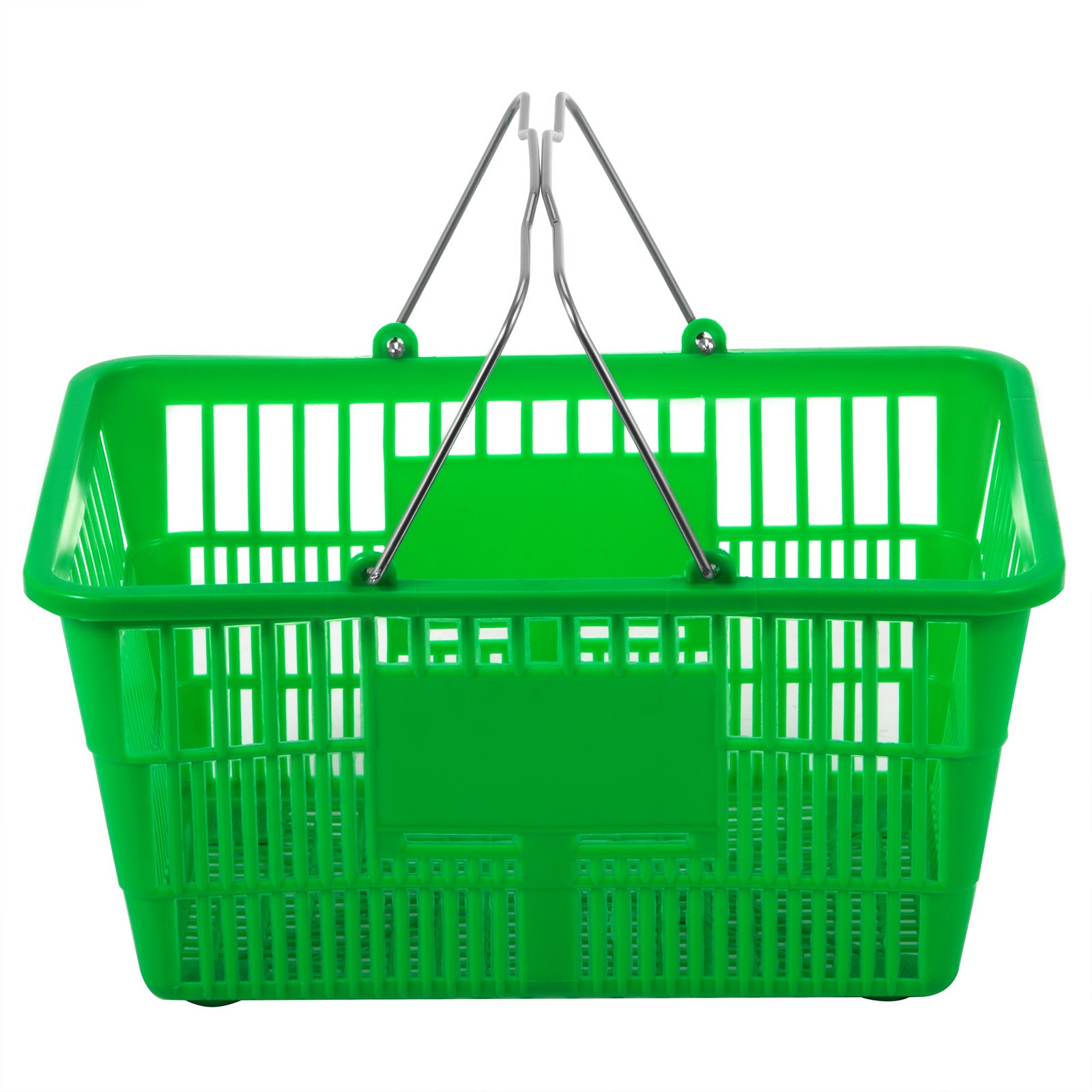 Green Plastic Shopping Basket Pack Of 12 Supermarket Durable Lightweight Pro