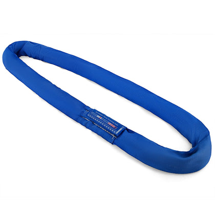 19.7ft 17600lbs Endless Round Lifting Sling Blue Polyester Steel