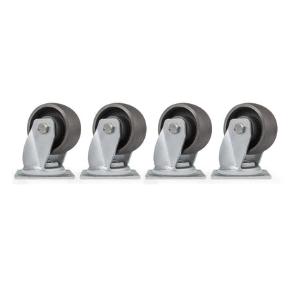 4 Swivel Cast Iron Casters Set Of 4 Zinc Plating 1000lbs Heavy Duty