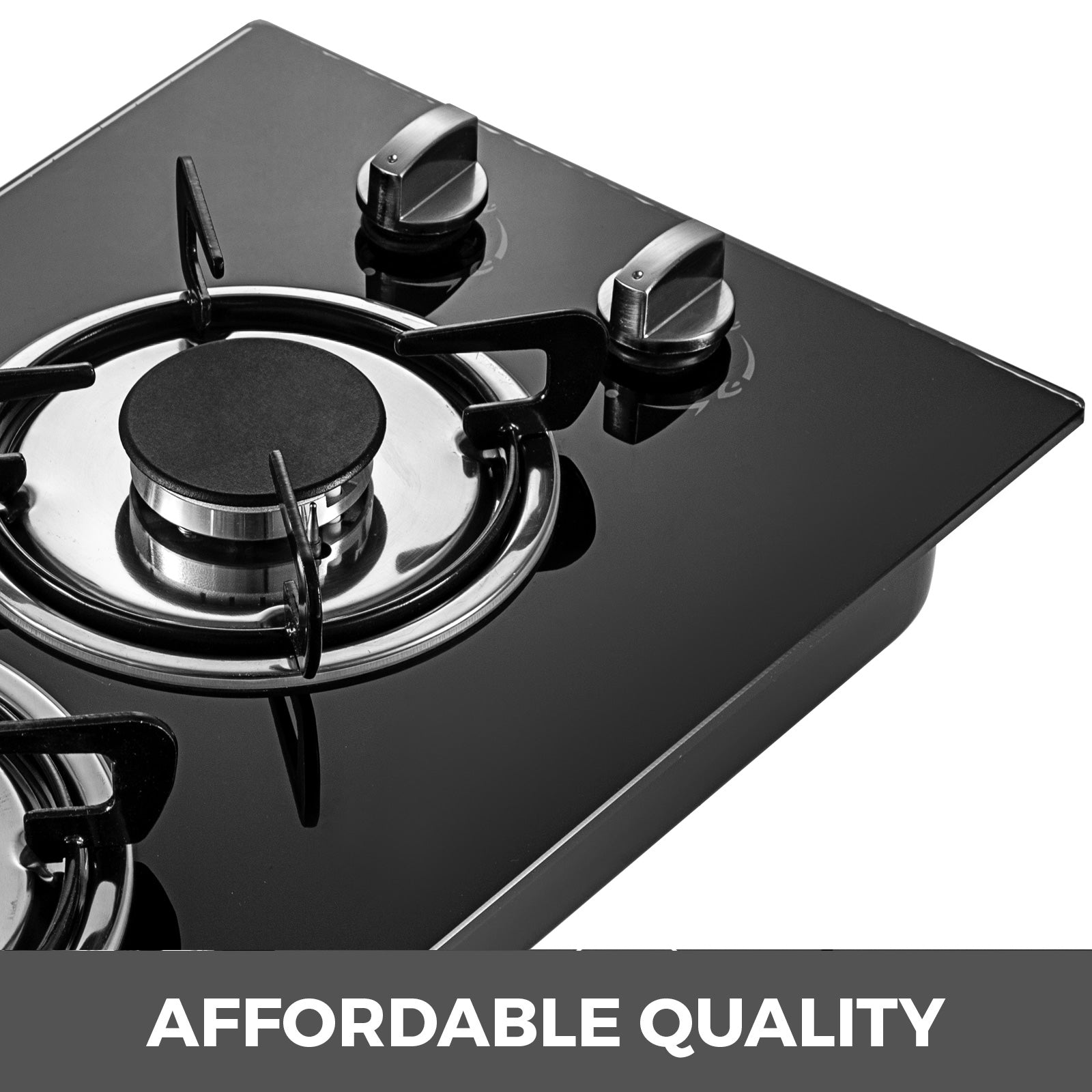 "12"" 2 Burners Tempered Glass Gas Cooktop Gas Hob Easy Installat Lpg & Lng Gas"