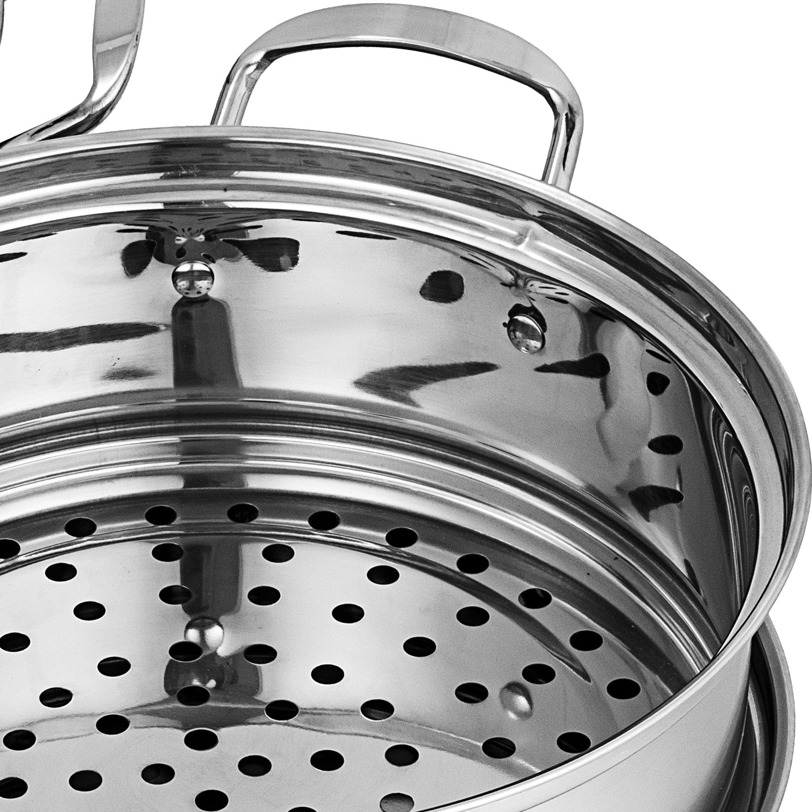 12'' Food Steamer Food Steaming Machine Cookware 5 Tier Stainless Steel ∅30cm