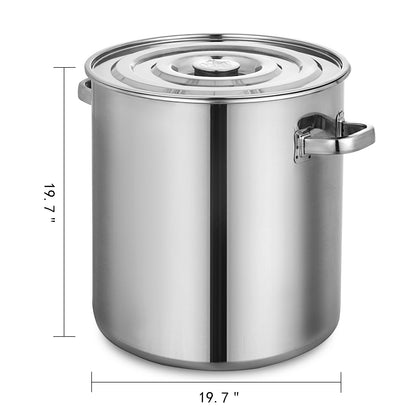 Vevor 90l Stainless Steel Home Brew Kettle Brewing Stock Pot Beer
