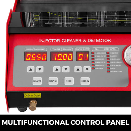 Cnc602a Ultrasonic Fuel Injector Cleaner Tester + Cleaning Tank Throttle Valve