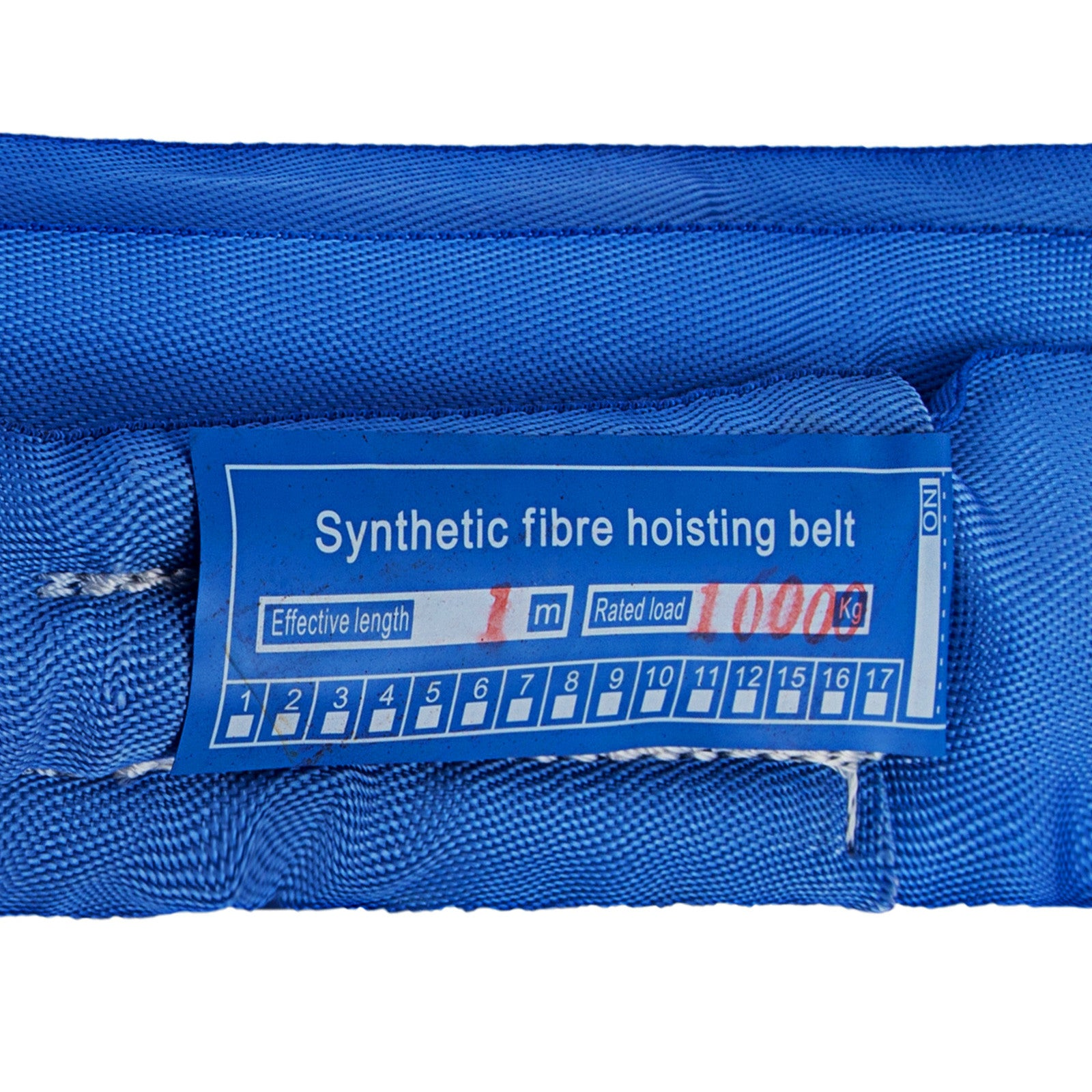 16.4ft Perimeter 17600lbs Endless Round Lifting Sling Blue Wear Resistance Strap