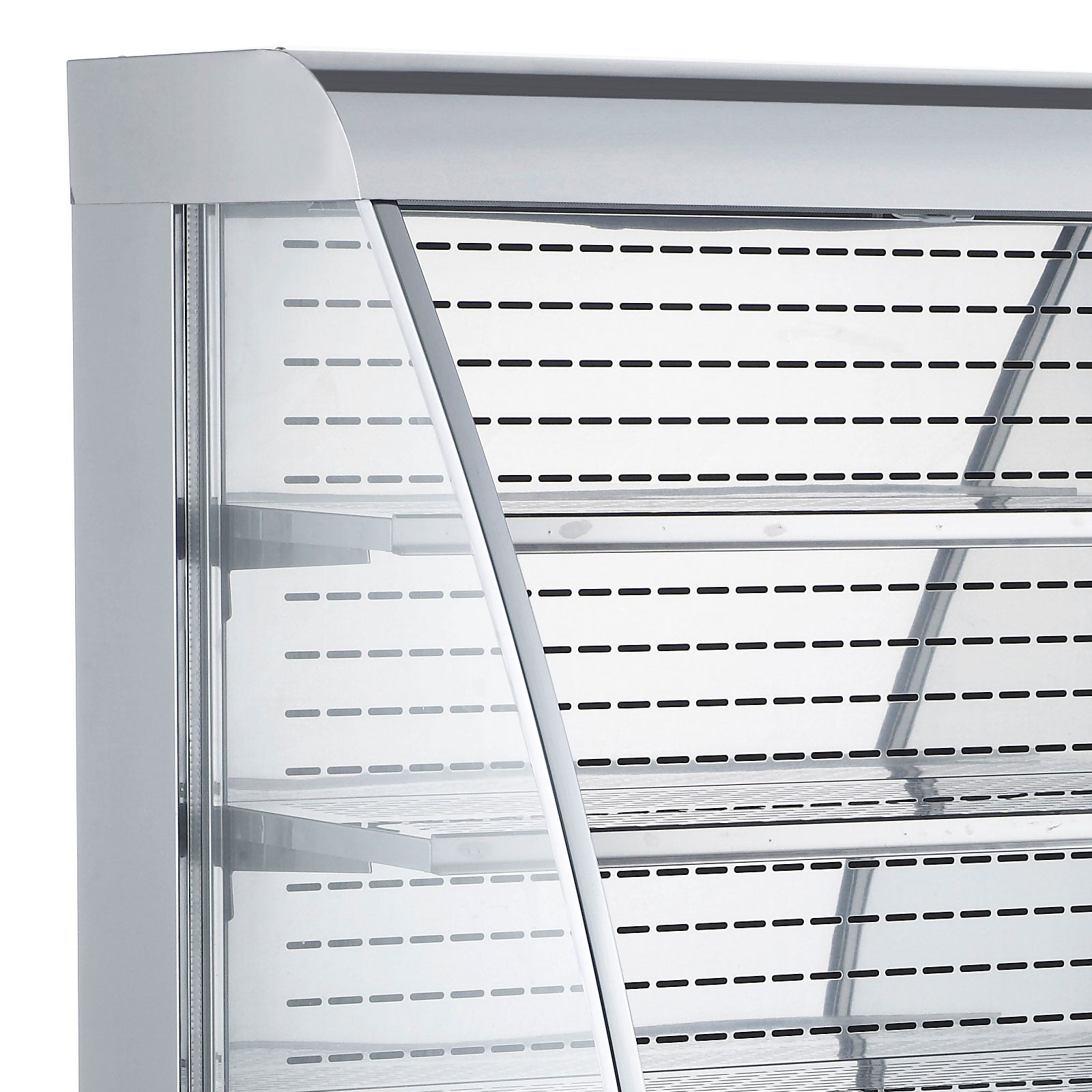 "40"" Open Refrigerated Display Case Led Lights Stainless Steel Adjustable Shelves"