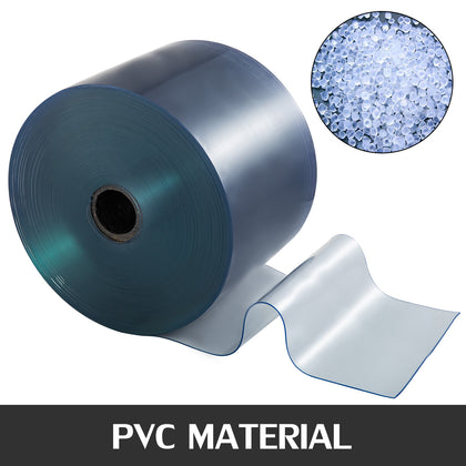 Pvc Plastic Door Curtain 300mmx3mmx25m Isolating Effect Stores Easily Trimmed