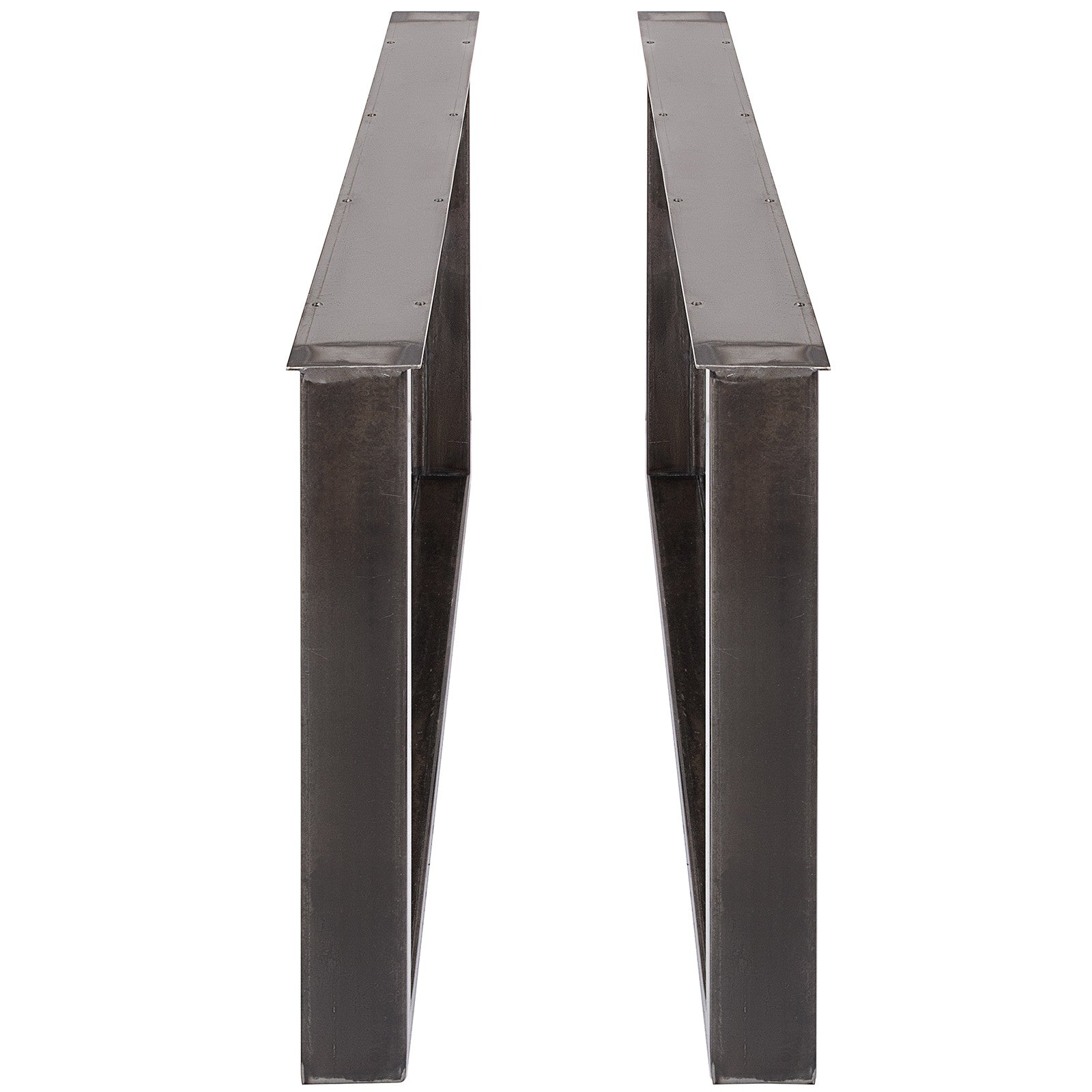 "Stainless Metal Table Legs 31"" Inch U Shape For Dining Table Desk 2pc Heavy Duty"