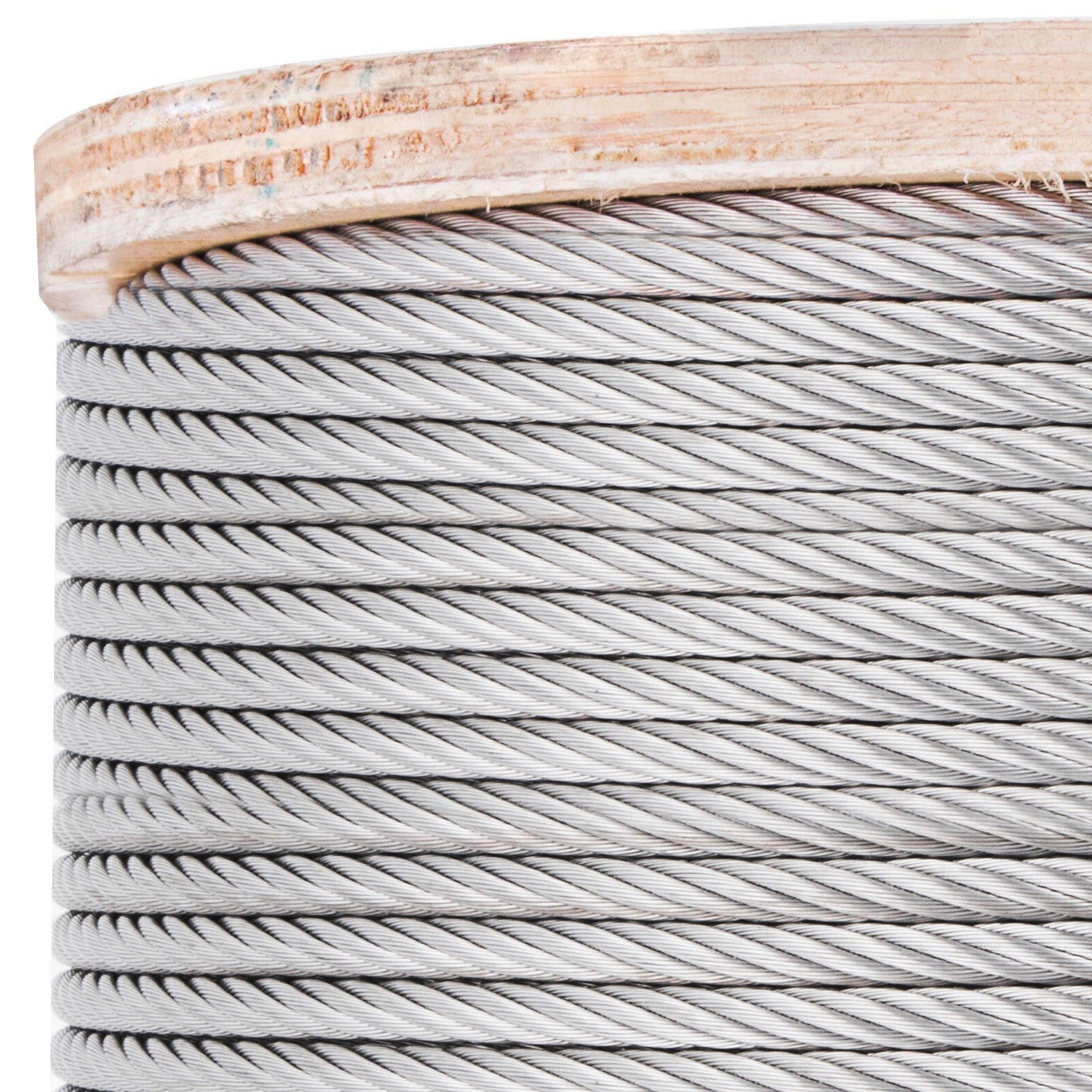 T304 Stainless Steel Cable Wire Rope,3/16,7x19,200ft Strand Machinery Mining