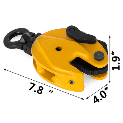 1760lbs Vertical Plate Lifting Clamp Durable 0.8t Heavy Duty